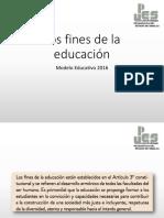 Los Fines de La Educacion