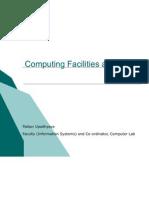 Computing Facilities Induction 2009