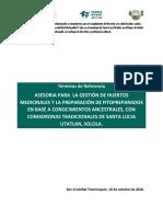 TdR Implementacion de Huertos AECID