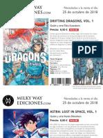 Novedades 25 Octubre 2018 Milky Way Ediciones
