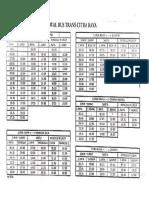 Schedule Bus CR