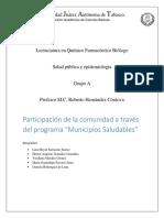 Reporte de Municipios Saludables