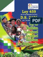 Ley de Medicina Tradicional Ancestral Boliviana y su reglamento