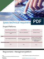 Ipsos IT Requirements