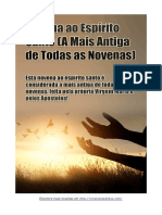 Novena Ao Espírito Santo (a Mais Antiga de Todas as Novenas)