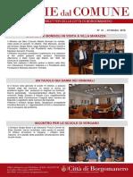Notizie Dal Comune di Borgomanero del 19 Ottobre 2018