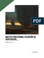 Master Profesional en Diseno de Videojuegos Trazos