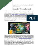 Tembak Ikan Joker123 Terbaru Indonesia