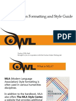 Owl Powerpoint 8th Edition MLA
