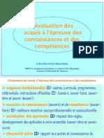 L'Évaluation Des Acquis a l'Épreuve Des Connaissances Et Des Compétences