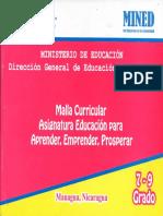 Malla Curricular 2018 AEP 7 9 Grado