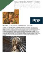Historia y Origen de La Virgen Del Perpetuo Socorro