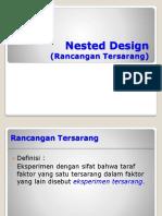 Nested Design (Rancangan Tersarang )