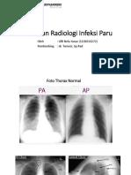 4. Gambaran Radiologi Infeksi Paru