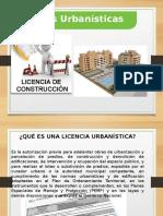 LICENCIAS DE CONSTRUCCION Y ESCALAS
