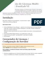Configuração de Licença Multi Fontlab