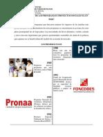 Historia de Los Programas Sociales El en Perú