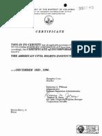 12031996 ACRI Articles of Incorporation