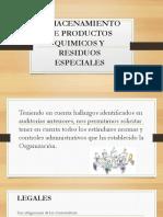 Almacenamiento de Productos Quimicos y Residuos Especiales