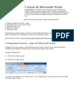 Cara Membuat Surat Di Microsoft Word