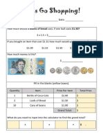 money maths worksheet friday 19th