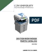 Manual de Partes Aficio MP2550