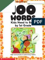 Scholastic 100 Vocabulary Words 1 Grade