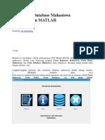 Pembuatan Database Mahasiswa menggunakan matlab.docx