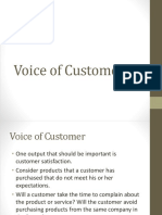 Voice of Customer(Define Phase)