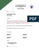 Research Format Questionnaire Letter Permission Research Adviser
