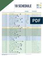 2018 FFF Revised schedule