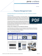 Data Sheet Cisco TelePresence Management Suite PROVIDEO