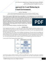 A Hybrid Approach for Load Balancing in Cloud Environment