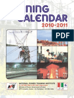 NPTI TrainingCalander2010_11
