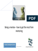 Being a Mentee - How to Get the Most From Mentoring