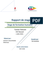 Rapport Stage de Formation Humaine SAYOUTI SOULEYMANE Abdoulaye Tunisie Télécom