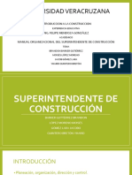 Superintendente de Construcción organigramas