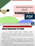Interesting Facts of Kamarajar