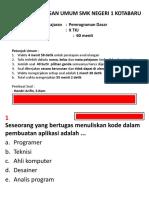 Pemrograman Dasar - Soal Kelas x
