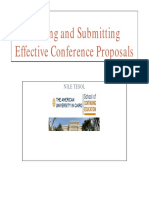 Writing and Submitting Effective Conference Proposals (EA41811)