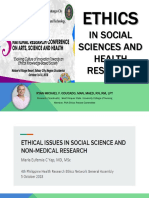 Ethics in Social Sciences and Health Research - Final