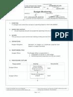 CITEM BDG PC 001 Budget Monitoring