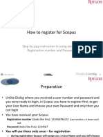 Instructions for Scopus Registration