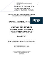 An English Reader for Food Technology and Biotechnology