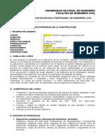 Silabo Gestión Integrada en La Construcción ABET v1