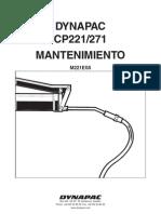 CP221 _ 271 Dynapac Mantenimiento