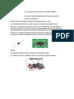 Semiconductores, Metales y Aislantes