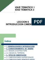 Tema 11 - Tipos de Cimentación