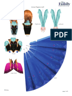 Frozen Anna Elsa Papercraft Craft Printable 0913 FDCOM
