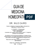 Guia Homeopático Dr Nilo Cairo - Em 13.10.2018